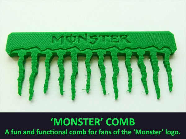 e1498dbe7d2b398b264df8e975e5ed7d_display_large.jpg Download free STL file 'Monster' Comb • Object to 3D print, Muzz64