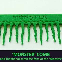 Download free STL file 'Monster' Comb • Object to 3D print, Muzz64