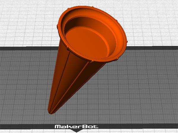 makerware_display_large.jpg Download free STL file Ice Cream Cone - Just like a regular cone but reusable! • 3D print design, Muzz64