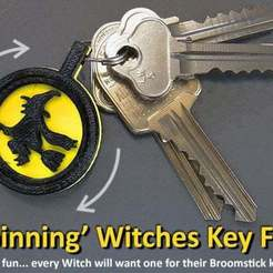 Download free STL files Spinning Witches Key FOB, Muzz64