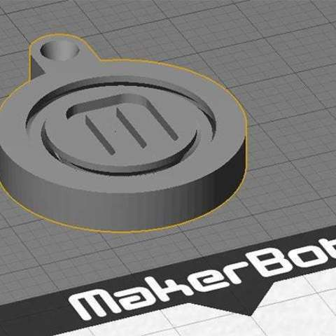 design_display_large.jpg Télécharger fichier STL gratuit Porte-clés rotatif / Fob.... avec logo MakerBot tournant ! • Objet pour imprimante 3D, Muzz64