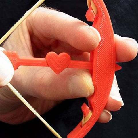Download free STL files Bow and Arrow - Shoot an arrow / Valentines Day Heart Arrow up to 5 metres!, Muzz64