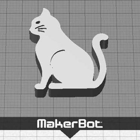 cat-3_display_large.jpg Télécharger fichier STL gratuit Chat - Assis avec des moustaches (rainures fraisées) • Plan imprimable en 3D, Muzz64