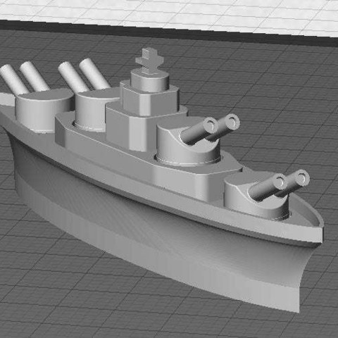 main_display_large.jpg Download free STL file BATTLESHIPS - with Rotating Gun Turrets (No support required) • 3D printer template, Muzz64
