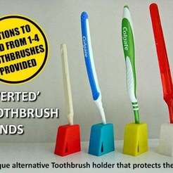 Download free 3D printer model Inverted Tooth Brush Stands, Muzz64