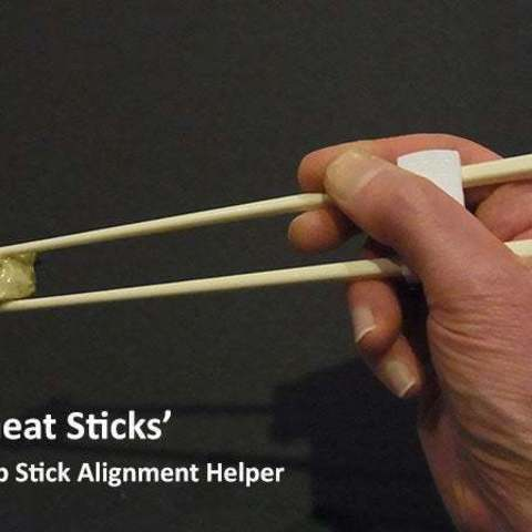 chaet_sticks_display_large.jpg Download free STL file 'Cheat Sticks' - The easy way to keep your Chop Sticks under control! • 3D printer template, Muzz64