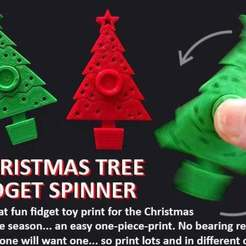 Download free 3D printing templates Christmas Tree Fidget Spinner, Muzz64