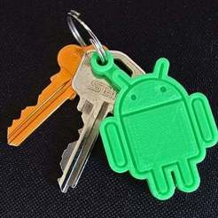 Download free STL files Android Key Fob... every Android owner should print one!, Muzz64