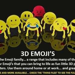 emoji_00.jpg Download free STL file 3D Emoji's • 3D print design, Muzz64