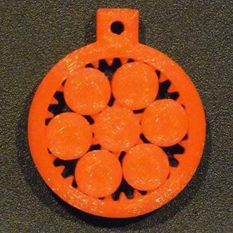 Download free 3D model Key Fob / 3D Demo Print - Interlocking rotating gears, Muzz64