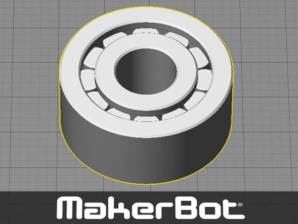 bearing_1_display_large.jpg Download free STL file Bearing - Needle Roller type one piece print (with minimal support to remove) • 3D printer template, Muzz64
