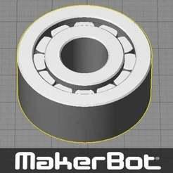 Télécharger fichier imprimante 3D gratuit Roulement - Rouleau à aiguilles type impression une pièce (avec un support minimal à enlever), Muzz64