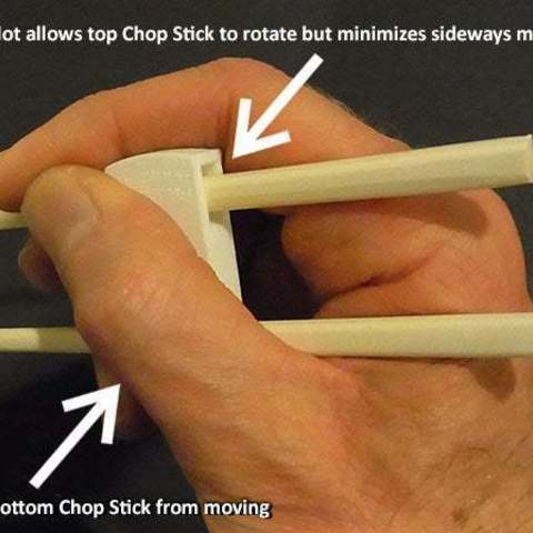 about_display_large.jpg Download free STL file 'Cheat Sticks' - The easy way to keep your Chop Sticks under control! • 3D printer template, Muzz64