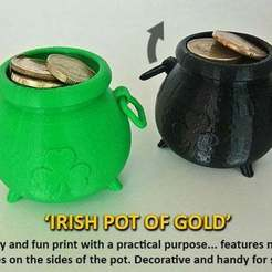 Download free STL file Irish Pot of Gold, Muzz64