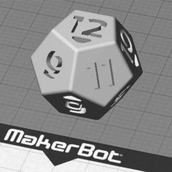 12sided_1_display_large.jpg Download free STL file Dice - 12 sided (Replaces two regular dice... plus adds outcomes!) • 3D printable template, Muzz64