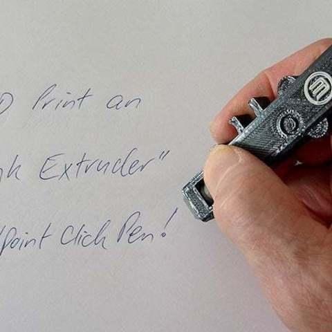 """Télécharger objet 3D gratuit """"Extrudeuse à encre"""" - Stylo à bille Click Pen qui ressemble à une extrudeuse intelligente !, Muzz64"""