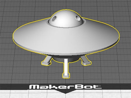 UFO-1_display_large.jpg Download free STL file UFO with Spinning Outer Disk • 3D printer design, Muzz64