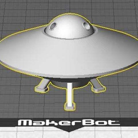 UFO-1_display_large.jpg Télécharger fichier STL gratuit OVNI avec disque extérieur tournant • Design pour imprimante 3D, Muzz64