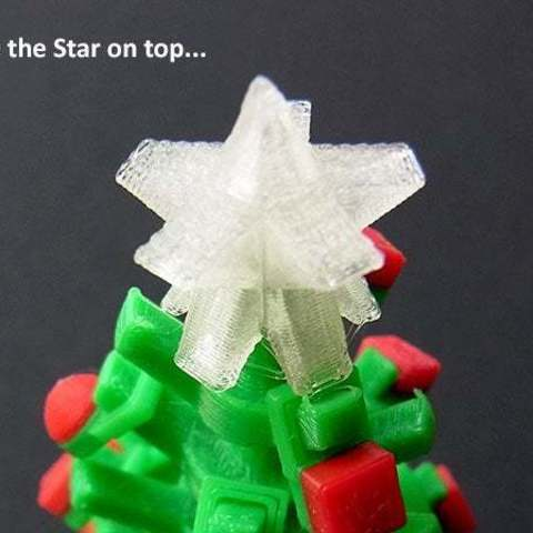 star_display_large.jpg Download free STL file Mini Christmas Tree with hook on Decorations! • Design to 3D print, Muzz64
