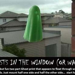 Free 3D printer model Ghosts in the Window (or Wall), Muzz64