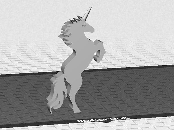 unicorn_2_display_large.jpg Download free STL file Unicorn - Stands Up (Balanced by Tail) • 3D printer model, Muzz64