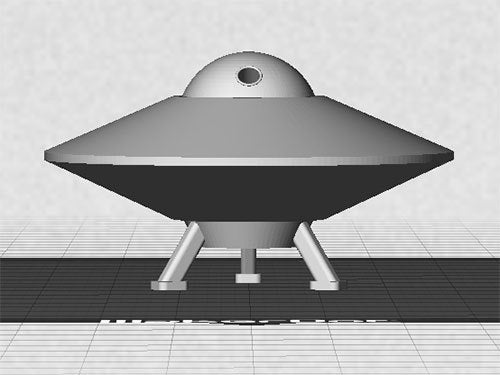 UFO-2_display_large.jpg Télécharger fichier STL gratuit OVNI avec disque extérieur tournant • Design pour imprimante 3D, Muzz64