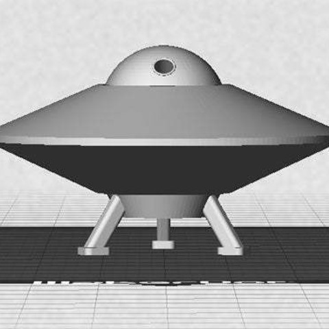 UFO-2_display_large.jpg Download free STL file UFO with Spinning Outer Disk • 3D printer design, Muzz64