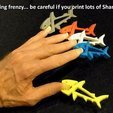 Download free STL SHARKZ... Fun Multipurpose Clips / Holders / Pegs with moving jaws that bite!, Muzz64