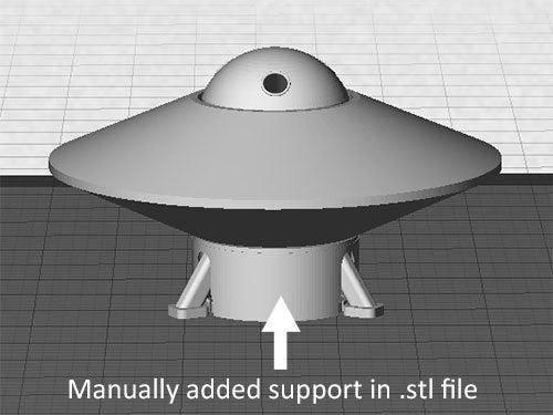 UFO-5_display_large.jpg Télécharger fichier STL gratuit OVNI avec disque extérieur tournant • Design pour imprimante 3D, Muzz64