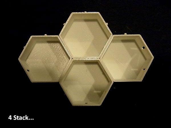 4stack_display_large.jpg Télécharger fichier STL gratuit Empileurs hexagonaux • Objet imprimable en 3D, Muzz64