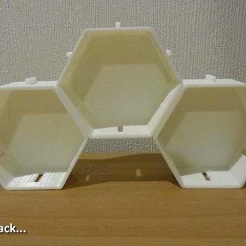 3stack_display_large.jpg Télécharger fichier STL gratuit Empileurs hexagonaux • Objet imprimable en 3D, Muzz64