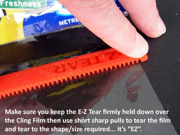 55f310da3e8620a1cb70a5798d286bb6_display_large.jpg Download free STL file E-Z Tear - Cling Film Tearing Tool • 3D print template, Muzz64