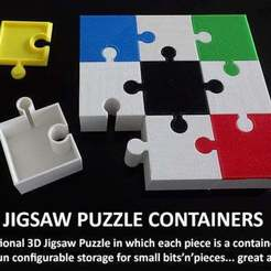Download free 3D printer designs Jigsaw Puzzle Containers, Muzz64