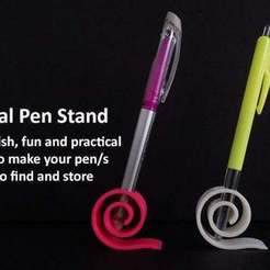 Download free 3D printing templates Spiral Pen Stand, Muzz64