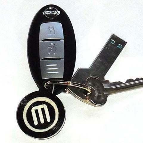keys_display_large.jpg Télécharger fichier STL gratuit Porte-clés rotatif / Fob.... avec logo MakerBot tournant ! • Objet pour imprimante 3D, Muzz64