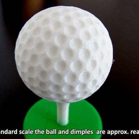 dimples_display_large.jpg Download free STL file Golf Ball Trophy • 3D printer model, Muzz64