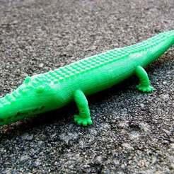 Télécharger plan imprimante 3D gatuit Crocodile, Muzz64