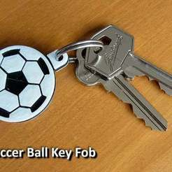 Download free 3D printing files Soccer Ball / Football Key Fob, Muzz64