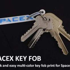 Free 3D printer files SpaceX Key Fob, Muzz64