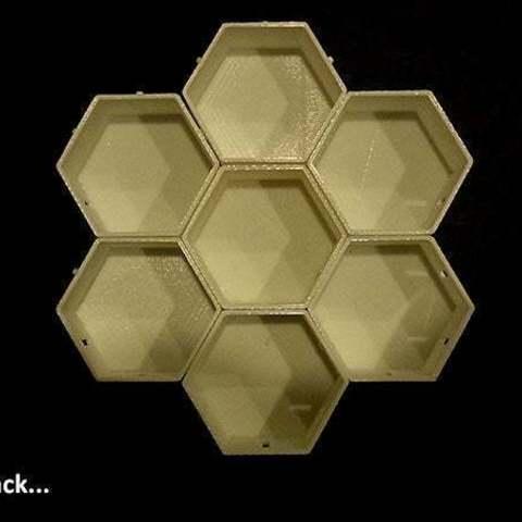 7stack_display_large.jpg Télécharger fichier STL gratuit Empileurs hexagonaux • Objet imprimable en 3D, Muzz64