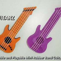 Download free 3D printing templates Guitarz - Tunable and Playble Mini Guitars, Muzz64