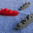 Download free 3D printer designs BATTLESHIPS - with Rotating Gun Turrets (No support required), Muzz64