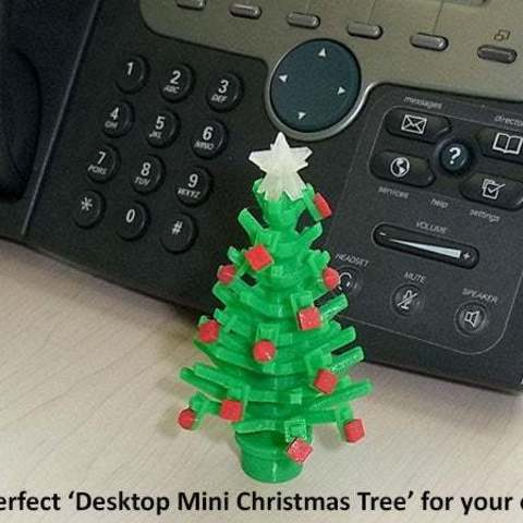 office_display_large.jpg Download free STL file Mini Christmas Tree with hook on Decorations! • Design to 3D print, Muzz64