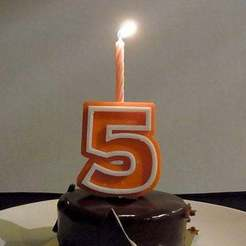 Download free 3D model Candle Holder Numbers - Numbers 0 - 9 for Birthday Cake Decoration, Muzz64