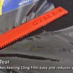 Download free STL file E-Z Tear - Cling Film Tearing Tool • 3D print template, Muzz64