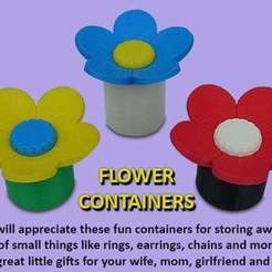 Download free 3D printer designs Flower Containers, Muzz64