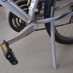 Download free STL files Bicycle Stand - 2 Part for use on the Road, Muzz64