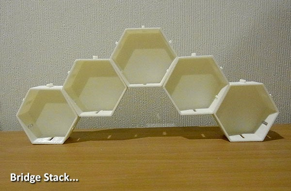 bridge_display_large.jpg Télécharger fichier STL gratuit Empileurs hexagonaux • Objet imprimable en 3D, Muzz64