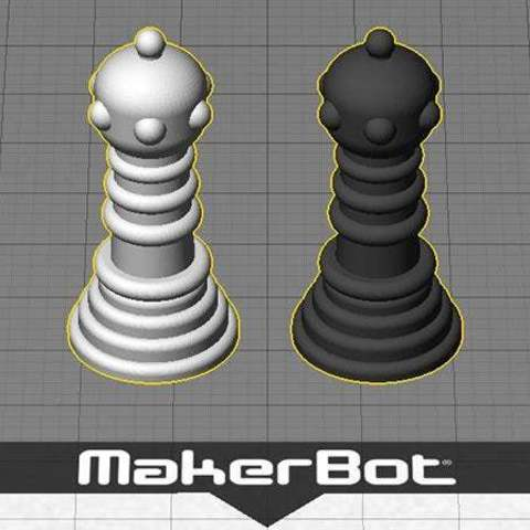 desktop_display_large.jpg Download free STL file New Chess Piece is a Game Changer - Introducing the 'Earl' • 3D printing design, Muzz64