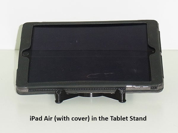 front_display_large.jpg Download free STL file Tablet Stand - Modern style iPad / Tablet stand for use on a desk • 3D printing object, Muzz64